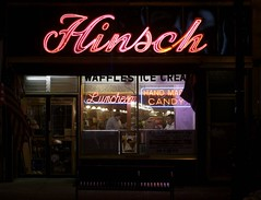 Hinsch's Confectionery (catasterist) Tags: nyc newyork sign brooklyn night neon glow candy diner icecream soda aglow confectionery bayridge luncheonette hinsch