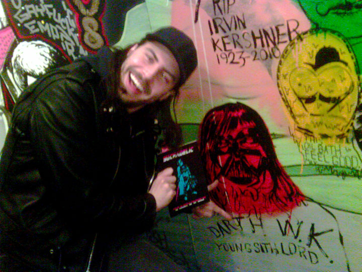 2011/01/15 Andrew W.K. With My Drawing