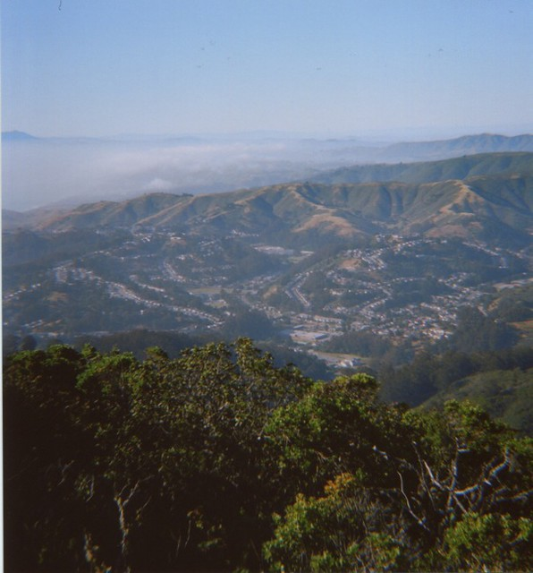 Foggy San Francisco from Montara mountains
