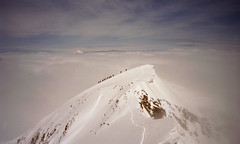 On the top of the world (Jos Mecklenfeld) Tags: mountain snow mountains alps berg clouds landscape austria tirol oostenrijk sterreich sneeuw wolken mountaineering bergen alpen tztal landschap alpinisme bergsteigen kodakgold200 wildspitze bergbeklimmen alpinismus fujidl95super