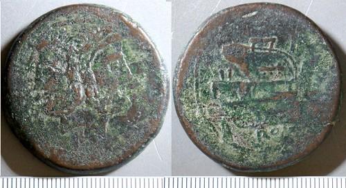97/22 L Luceria Italic-4, Janus L under, Prow, RBW, As 52g63