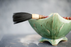 Chinese Calligraphy Brush (ElenaRay) Tags: old red sea stilllife color green beach nature water writing river asian photography ancient artist natural stones traditional chinese bowl things tools study artists simplicity wabisabi arti practice calligraphy simple cultural