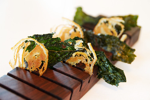 Fried kale and face bacon