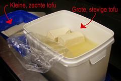Twee soorten verse tofu