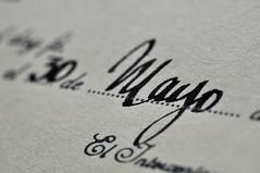 May the 30th (Gonzalo Merat) Tags: old macro 30 ink paper nikon dof may document mayo calligraphy papel tinta 1877 caligrafa pergamino stubbook