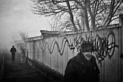 [Panta Rei] (Luca Napoli [lucanapoli.altervista.org]) Tags: blackandwhite italy milan experiment biancoenero pantarei viabisceglie lucanapoli twoshotsoverlapped panasoniclumixlx32001