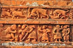 LIFE OF SCULPTURE IN TERRACOTTA (kaushik.photo) Tags: sculpture india history archaeology architecture nikon terracotta ruin nikkor bishnupur westbengal d90 colorphotoaward nikkor1855vr terracottatemple