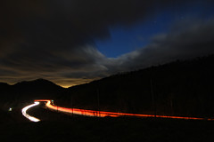 A Window in the Clouds (dbnunley) Tags: light sky night clouds canon stars traffic trail interstate 60d