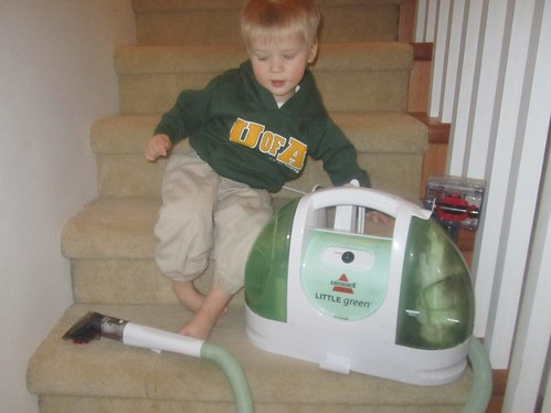 Jacob and the carpet cleaner
