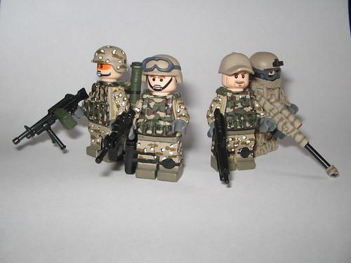 Custom minifig Marine Fireteam custom minifigs