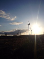 Derrybrian windmills, Loughrea, Co. Galway (Cathy Skehill-Glynn) Tags: blue ireland light brown sun mountains galway energy windmills views loughrea