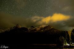 Stars over Lake Louise (christianstapor) Tags: lakelouise banff banffnationalpark canada fujifilmxt10 xt10 xf1855mm nightscaping nightscape night stars stargazing