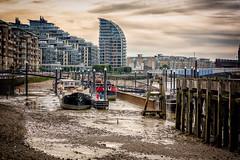 Low tide (miltonpics) Tags: boat england location london manmade place ship structures thames transport uk unitedkingdom wandsworth