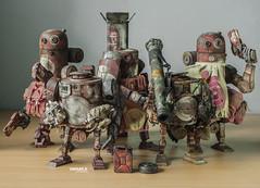 3A WWRp Bromwich Squad (saaaa_muel) Tags: 3a threea ashleywood toy toys bromwich worldwarrobot wwr wwrp bertie bramble caesar