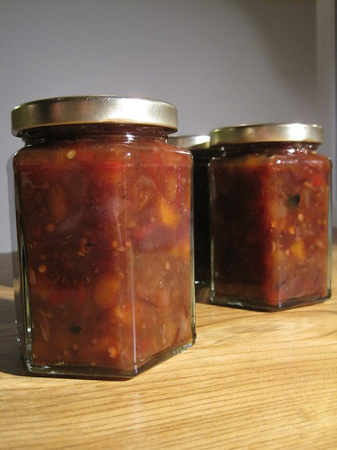 Pumpkin, cranberry and red chilli chutney
