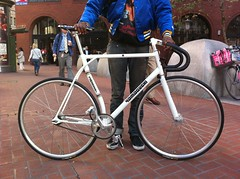 (SF_SCUM) Tags: sf sanfrancisco wood bike bicycle track phil tube eugene yamaguchi fixie fixedgear curved pursuit frisco duraace tark tarck