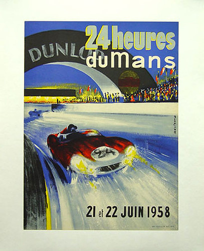 021-1958 LeMans-© 2010 Vintage Auto Posters. All Rights Reserved
