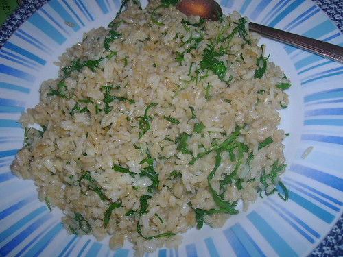 Garlic & Rocket (Arugula) Fried Rice