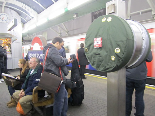 Coats on Tube Help Points