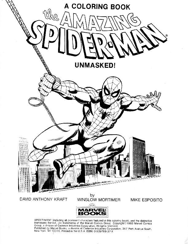 Spider-Man Unmasked! Coloring Book002