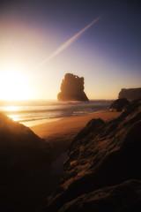 Gibson's Steps (Leighton Wallis) Tags: sunset sand rocks surf waves dusk australia victoria vic greatoceanroad twelveapostles monolith 12apostles sunflare portcampbell gibsonssteps portcampbellnationalpark gibsonsbeach