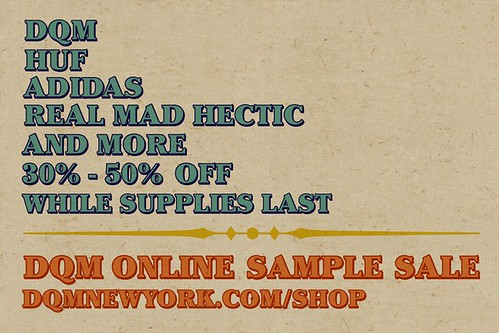 DQM Online Sample Sale