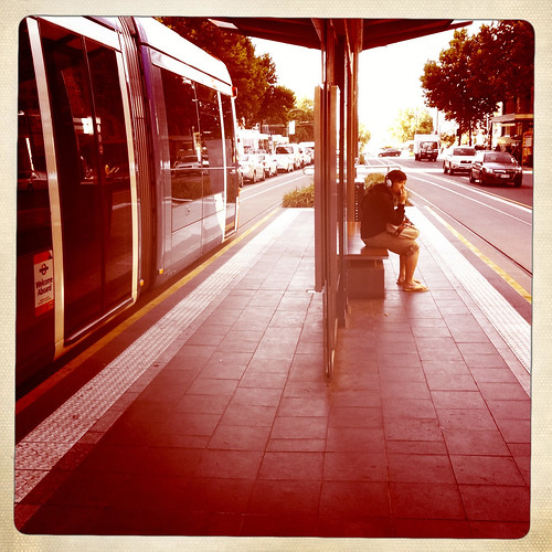 Waiting for the tram. Day 9/365