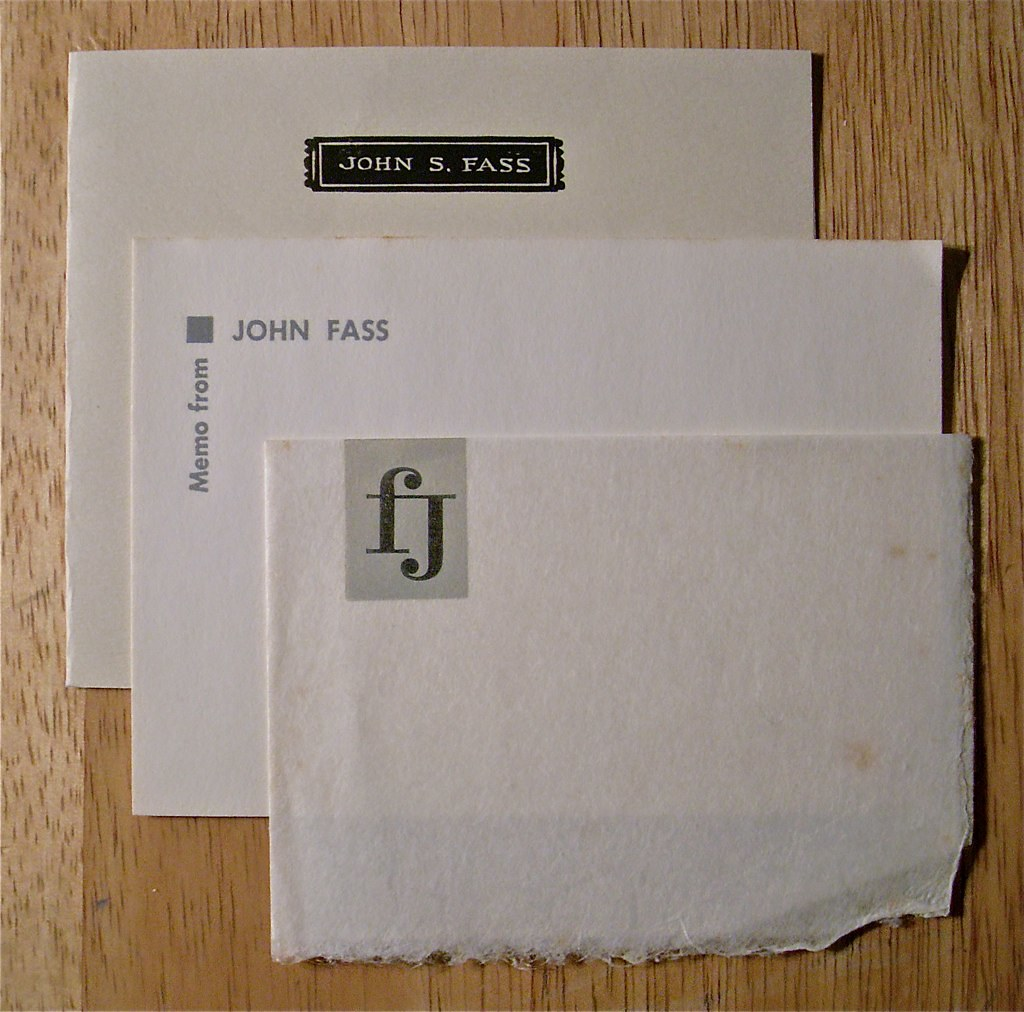 John S. Fass / Note & Memo Cards