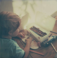 (jeffreywithtwof's) Tags: boy art film jeff analog polaroid sx70 1 son coloring instant crayons alpha hutton grahm atz instantfilm gph jeffhutton integralfilm jeffhuttonphotography jeffreyhutton