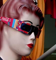 (Julia Manzerova) Tags: mannequin glasses coke morocco casablanca cocacola