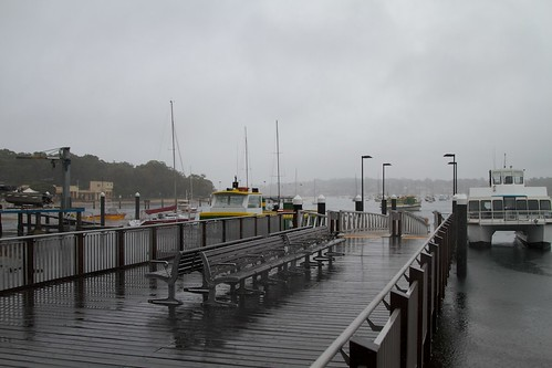 Waiting for the ferry in Cronulla.