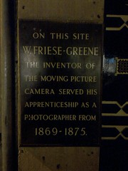 Photo of William Friese-Greene black plaque