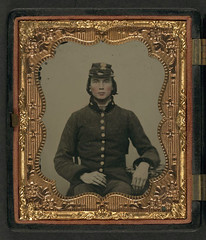 [Unidentified young soldier in Confederate uniform and South Carolina forage cap with Palmetto insignia] (LOC) (The Library of Congress) Tags: soldier rebel confederate civilwar libraryofcongress thesouth confederacy rebels csa americancivilwar warbetweenthestates uscivilwar confederatestatesofamerica thecivilwar xmlns:dc=httppurlorgdcelements11 theconfederacy dc:identifier=httphdllocgovlocpnpppmsca27190