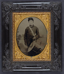 [Young George W. Weeks of Company D, 8th Maine Infantry Regiment with drum in front of painted backdrop showing shoreline with house and lighthouse] (LOC) (The Library of Congress) Tags: usa drum unitedstatesofamerica union civilwar drummer libraryofcongress weeks yankee yankees drummerboy thenorth theunion americancivilwar warbetweenthestates uscivilwar thecivilwar xmlns:dc=httppurlorgdcelements11 dc:identifier=httphdllocgovlocpnpppmsca27527 georgewweeks georgeweeks