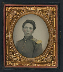 [Private John Ryan of Company H, 2nd Rhode Island Infantry Regiment in uniform with shoulder scales] (LOC) (The Library of Congress) Tags: usa soldier sad ryan unitedstatesofamerica union civilwar libraryofcongress yankee yankees johnryan thenorth theunion americancivilwar warbetweenthestates uscivilwar thecivilwar xmlns:dc=httppurlorgdcelements11 dc:identifier=httphdllocgovlocpnpppmsca30605