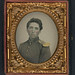 [Private John Ryan of Company H, 2nd Rhode Island Infantry Regiment in uniform with shoulder scales] (LOC)