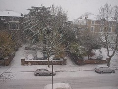 Snowing in Blackheath