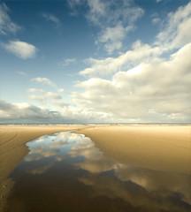 Into the wide ocean (Danil) Tags: holland reflection nature netherlands strand sand daniel nederland noordzee northsea groningen friesland schiermonnikoog landschap zand reflectie d300