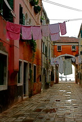 Back alley in Venice (lh2roc) Tags: laundry clotheslines