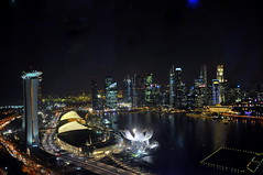 Night View from the Singapore Flyer (Eustaquio Santimano) Tags: from bridge night marina bay flyer singapore view district central platform floating business helix sands financial the singapores floatmarina