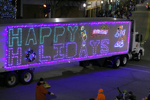 Frito Lay Lighted Holiday Parade Semi