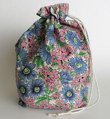 Knitting Project Bag - Lined Drawstring