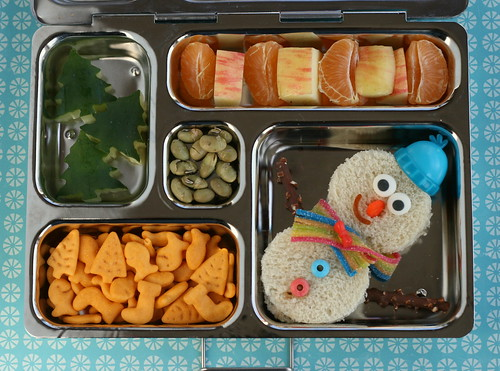 PlanetBox snowman lunch