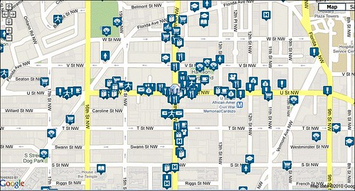 walkable amenities around 14th & U (via Walk Score)