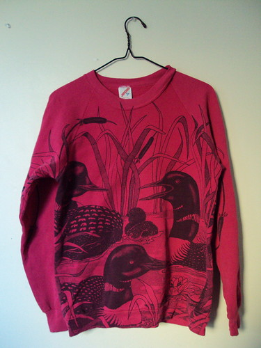 All Over Graphic Print Loon Sweatshirt (front)