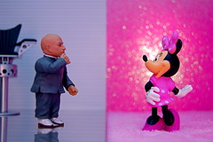 Mini-Me vs. Minnie Mouse (343/365) (JD Hancock) Tags: pink favorite fun toy actionfigure action bokeh disney cc figure duel portfolio minniemouse minime austinpowers 1k day343 inkitchen jdhancock duel365