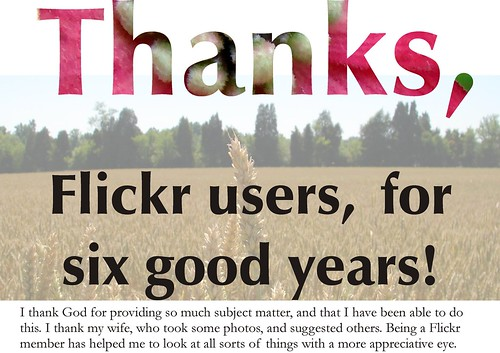 Still on hiatus: Six years on Flickr