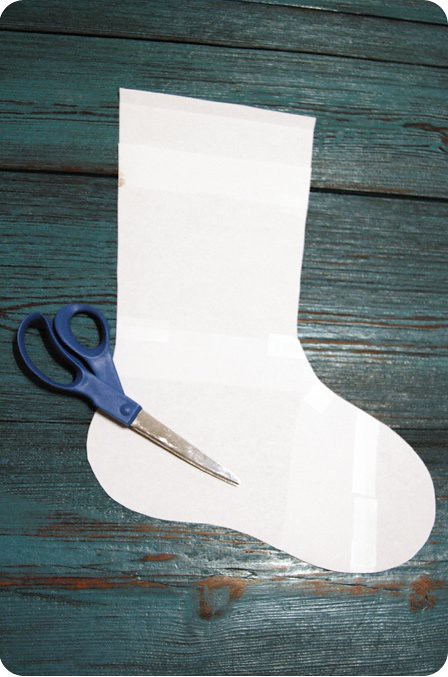 {craft}ernoon: burlap stocking - step 1