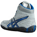 Asics Aggressor Grey and Royal Blue Wrestling Shoes 7