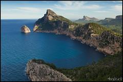 Cabo Formentor (Hedrael) Tags: sea espaa costa canon mar spain paisaje montaa mallorca isla baleares tramuntana canon7d